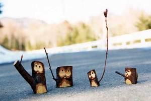 木鳥「春を呼ぶポーズ」